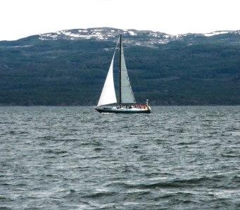 En navigation en Patagonie