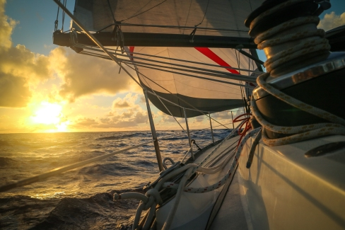 En navigation dans le Pacifique