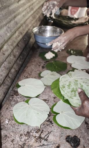 Préparation du pain coco